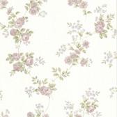 302-66872 La Belle Maison Blossom Rose Trail Mauve Wallpaper