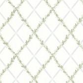 302-66883 Heirloom Harlequin Trellis Blue-Green Wallpaper