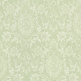 302-66884 Ornament Damask Motif Olive Green Wallpaper