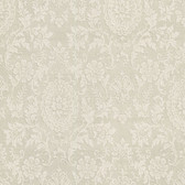 302-66887 Ornament Damask Motif Flaxen Wallpaper