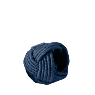 Navy Blue Braided Abaca Napkin Rings - Set of 4