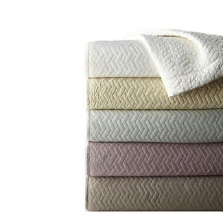 Quilted Vannerie Satin Coverlet