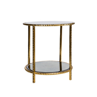 Gold Stud End Table
