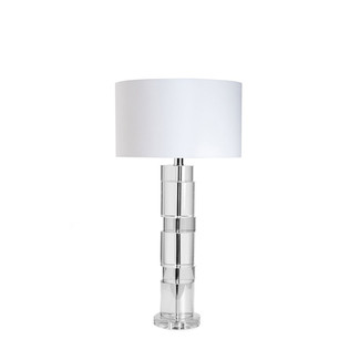 Stacked Crystal Cylinder Table Lamp