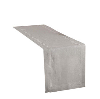 Grey Embroidered Design Table Runner