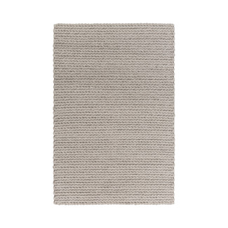 YUKON LIGHT GRAY BRAIDED WOOL AREA RUG
