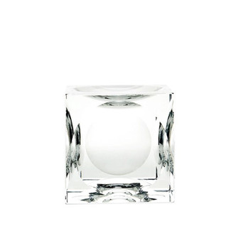 Dimpled Large Crystal Cubes- Set of 2
