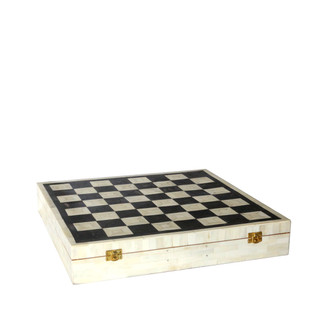 Bone Inlay Chess Set
