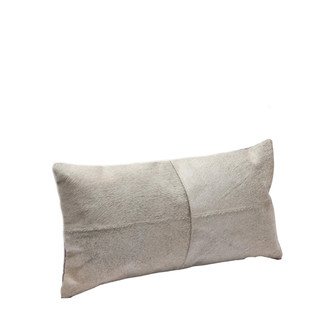 Gray Leather Pillow 20 x 10