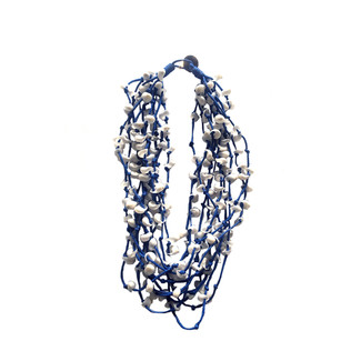 Moon Necklace - Navy