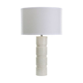 White Marble Pillar Table Lamp
