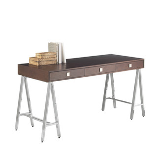 Espresso contemporary desk