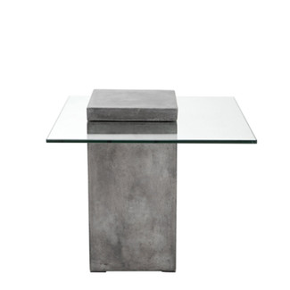 Glass & Concrete Side Table