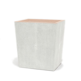 Faux Shagreen Rectangular Waste Basket