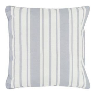 Gray Nautical Stripe Accent Pillow