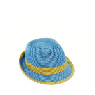 Periwinkle Fedora with Toast Band