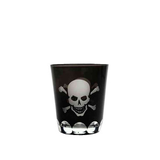 Skull and Crossbones Old Fashioned Glass