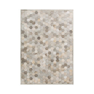Light Gray Mosaic Hide Rug