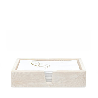 Clam Stone Hand Towel Trays, Set of 2