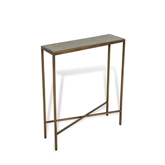 Antique Brass & Shagreen Console