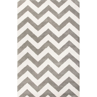 Hand Tufted Chevron Wool Area Rug
