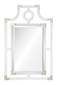 Acrylic & Nickel Pagoda Mirror