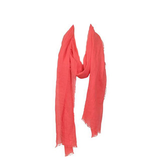 Coral Lightweight Crinkle Scarf