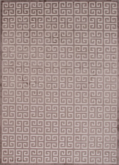Ivory Brown Greek Pattern Area Rug