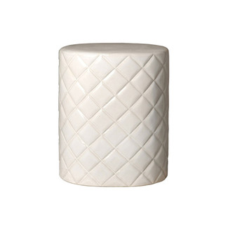 Quilted Ceramic Garden Stool