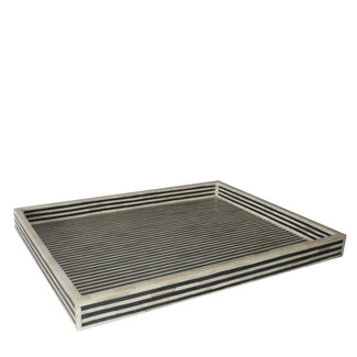 Ebony Striped Bone Inlay Tray
