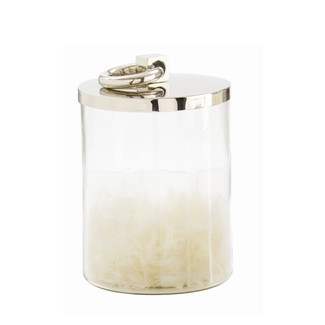 Steel Top Glass Canister - Medium