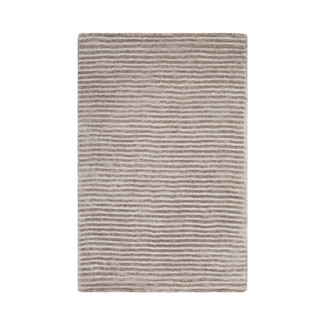 LUSTROUS STRIPED GRAPHITE GRAY RUG