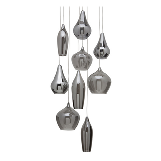 Smoke Grey Nine Pendant Lamps