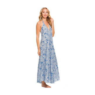 Ocean Paisley Halter Dress