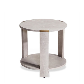 CREAM SHAGREEN SIDE TABLE