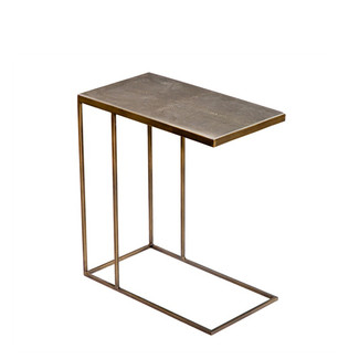 Antique Brass & Shagreen Hugging Table