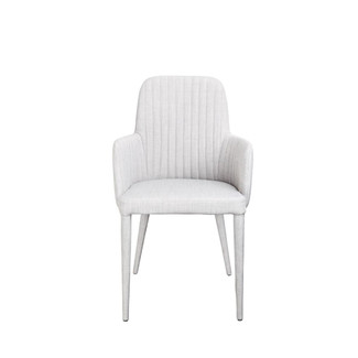 Light Grey Upholstered Armchair