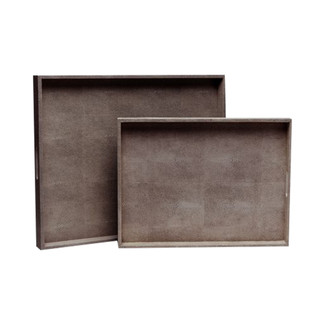Emery XL Faux Shagreen Trays - Set of 2