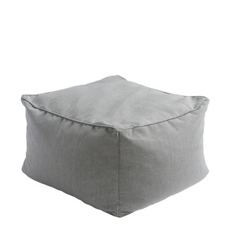WOVEN LIGHT GRAY POUF