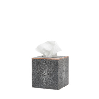 Ash Faux Shagreen Tissue Box
