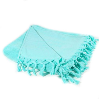 Fouta Reversible Terry Towel - Aqua