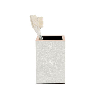 Faux Shagreen Brush holder