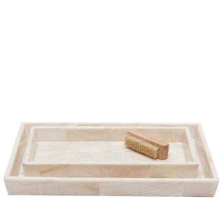 Clam Stone Large Tray