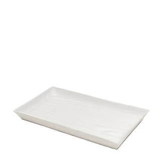 White Wood Grain Porcelain Tray