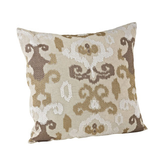 Lili Anna Embroidered Ikat Pillow