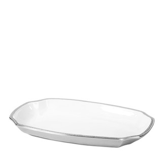 Aluminum & Enamel Oblong Platter- Medium