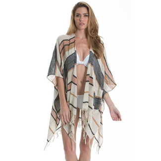 Beach Poncho - Striped