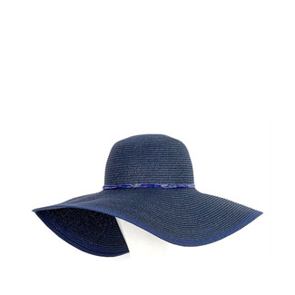 Metallic/Deep Sea Blue Floppy Hat