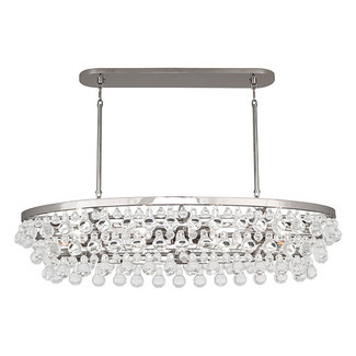 Oval Chandelier with Glass Droplets