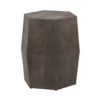 Daryl Faux Shagreen Hex Stool